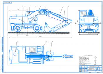 Проект рабочего оборудования экскаватора Caterpillar M318D