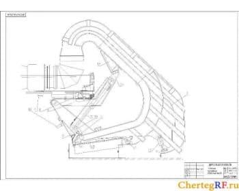 Сборочный чертеж установки газопровода с указанием размеров (формат А1 )
