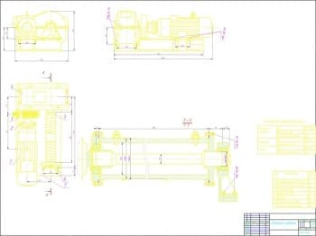 Сборочный чертеж приводного механизма подъема