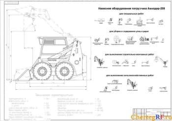 Набор чертежей погрузчика Амкодор-208А