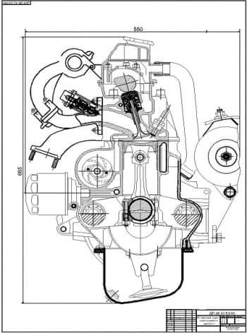 Комплект чертежей двигателя ВАЗ-11113, эскиза коленчатого вала, кулачка двигателя, поршня, шатуна и эскиза шестерен масляного насоса