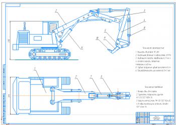 Проект сменного рабочего оборудования экскаватора ЭО-4121 рыхлителя для корчевки пней
