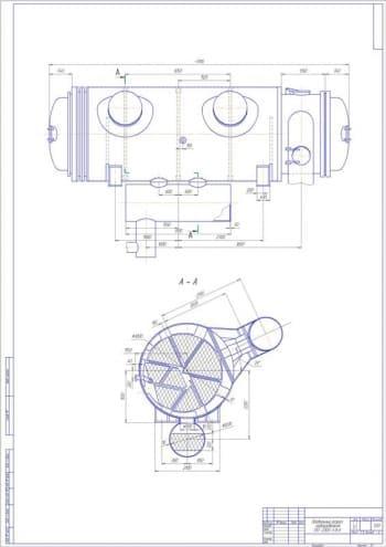 Чертеж подогревателя сетевого ПСГ-2300-3-8-II