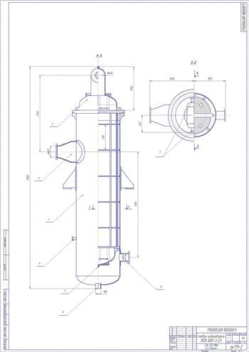 Чертеж подогревателя сетевого ПСВ-500-3-23 ТЭЦ 405 МВт