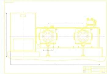 1.Чертеж общего вида компрессора в масштабе 1:5, с указанием размерных величин (формат А1)