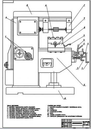 Чертежи конструкции фрезерного станка 6К81Г