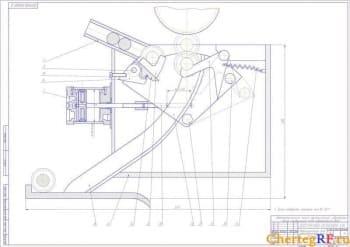 Сборочный автооператора для зубошевинговального станка с техническими требованиями (формат А1)