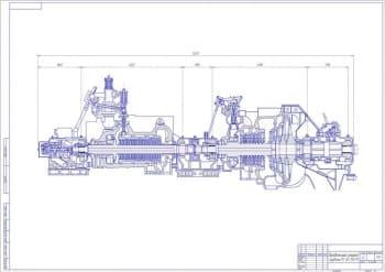 Сборочный чертеж турбины ПТ-60-130/13