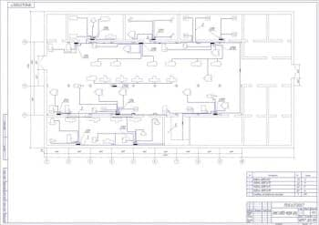 Чертеж схемы силовой сети Электрооборудования механического цеха