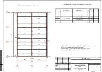 16.Чертеж схемы расположения плит покрытия со спецификацией