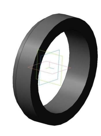 Чертеж модели 3d детали кольца 140_180