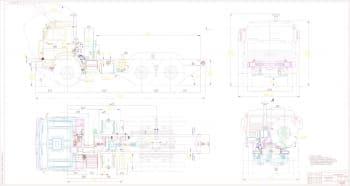 Габаритный чертеж шасси автомобиля КАМАЗ 43114