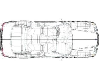 Чертеж 3D-модель автомобиля BMW