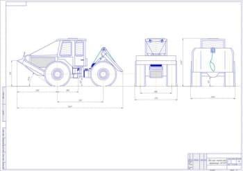 Чертеж трелевочного трактора LKT-81
