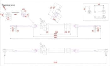 Сборочный чертеж рейки рулевой автомобиля Ока
