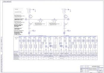Чертеж схемы электрических соединений понижающей подстанции на два напряжения 35 10 кВ