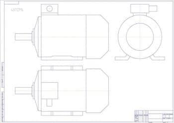 Схематичный чертеж электродвигателя с допусками, посадками и шероховатостями