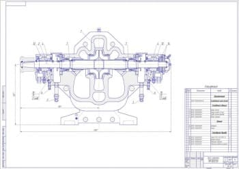 1.Сборочный чертеж насоса нефтяного магистрального НМ 3600-230 массой 3920, в масштабе 1:4, с основными параметрами конструкции, со спецификацией (формат А1)