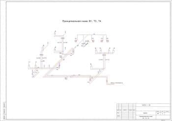 17.Чертеж плана второго этажа с представленным перечнем наименований помещений