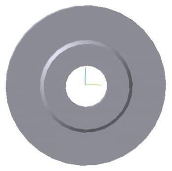 17.Чертеж 3d модели крышки с указанием размеров диаметров