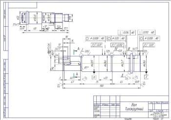 Набор чертежей червячного редуктора с разработкой рабочих чертежей деталей редуктора