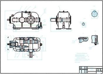 Разработка чертежей редуктора для привода ленточного конвейера с деталировкой