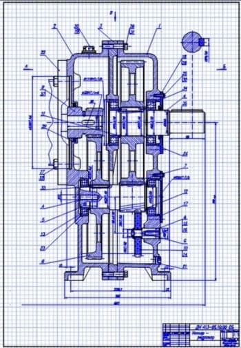 Набор чертежей общего вида привода цепного транспортера, сборочного чертежа мотор-редуктора, привода вала, приспособления для сборки быстроходного колеса с промежуточным валом