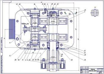 Сборочный чертеж червячно-цилиндрического редуктора