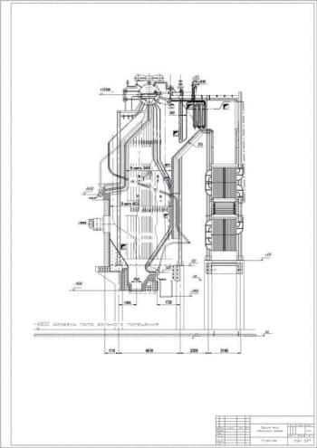 Набор чертежей общего вида парового котла ТП 20-39 и воздухоподогревателя котла с расчетами в программе Excel