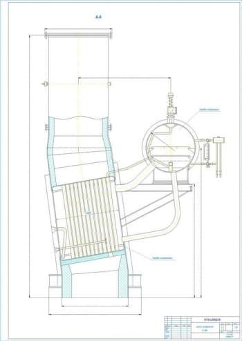Чертежи общего вида котла-утилизатора В-90Б