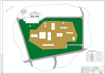 Набор чертежей котельной: генеральный план, календарный график работ, компоновки котельной, тепловой и технологической схем, схемы трубопроводов
