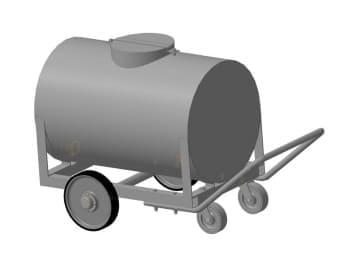 Набор рабочих чертежей (общий вид, сборочные, детали) передвижного оборудования для разлива топливо-смазочных материалов