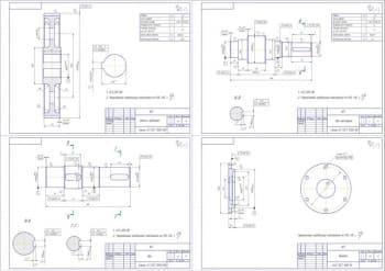 Сборочный чертеж прямозубого цилиндрического редуктора с деталировкой