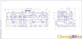 Чертеж общего вида головки двигателя СМД-23