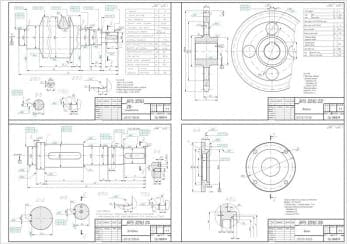 Чертежи червячного редуктора в сборе и чертежом деталировки