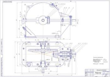 Сборочный чертеж редуктора с техническими характеристиками