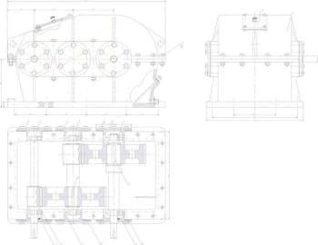 1.Сборочный чертеж редуктора с техническими требованиями: зазоры в зацеплении и пятно контакта по степени точности 7