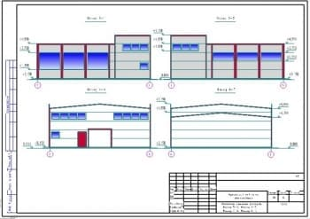 Набор чертежей станции технического обслуживания: проектирование здания временного павильона