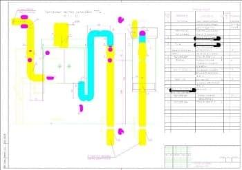 Монтажный чертеж установки газорегуляторных пунктов модификации ГPПШ 05-2Y-1