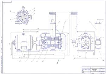 Сборочный чертеж вакуумного насоса