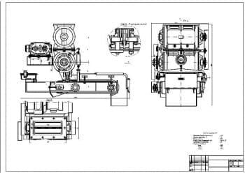 Сборочный чертеж весового дозатора непрерывного действия СБ-71А для дозирования цемента