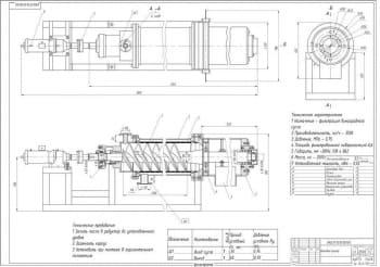 2.Сборочный чертеж шнекового фильтра для линии производства белых вин (формат А1)