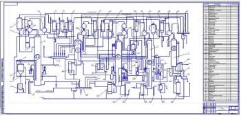 2.Технологическая схема производства этилового спирта (формат А2х3)