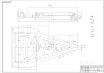 2.Сборочный чертеж тяговой рамы А3