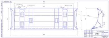 2.Сборочный чертеж отвала в двух проекциях с указанием сварочных швов А1