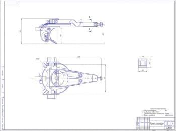 •Cборочный чертеж тяговой рамы грейдера А1