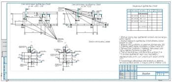2.Схемы расположения фундаментных болтов 2хА3