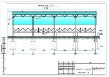 2.План фасада автонавеса А3