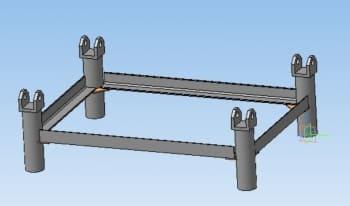 21.3D сборочный чертеж рамы стенда