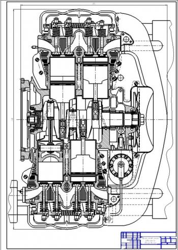 Проект четырехтактного двигателя Фольксваген и выбор трансмиссии